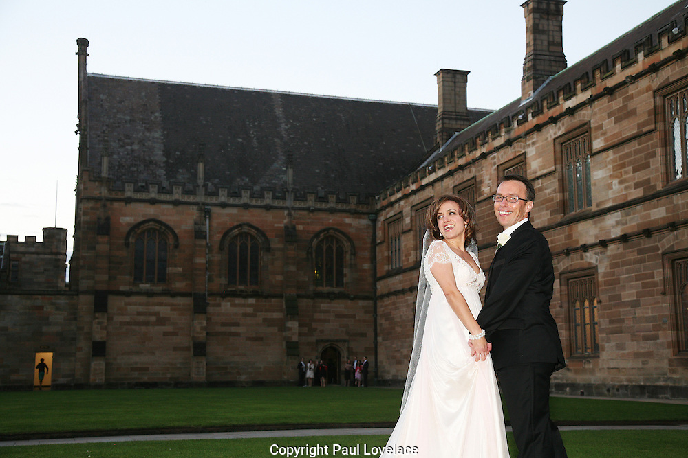 Julie Zavaglia & Michael on their Wedding Day at Sydney University.26.07.08