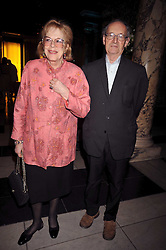 LADY ANTONIA FRASER and her brother the HON.THOMAS PAKENHAM at the Orion Publishing Group Author Party held at the V&A, London on 18th February 2009.