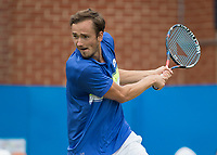 Tennis - 2017 Aegon Championships [Queen's Club Championship] - Day Four, Thursday <br /> <br /> Men's Singles: Round of 16 - Daniil MEDVEDEV (RUS) Vs Thanasi KOKKINAKIS (AUS)<br /> <br /> Danil Medvedev (RUS) with a backhand return at Queens Club<br /> <br /> COLORSPORT/DANIEL BEARHAM