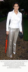 MISS JESSICA DE ROTHSCHILD daughter of Sir Evelyn de Rothschild, at a dinner in London on 19th May 2003.PJS 120