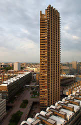 UK ENGLAND LONDON 13AUG03 - View from the 20th floor of Lauderdale Tower at the Barbican Estate, central London...jre/Photo by Jiri Rezac..© Jiri Rezac 2003..Contact: +44 (0) 7050 110 417.Mobile: +44 (0) 7801 337 683.Office: +44 (0) 20 8968 9635..Email: jiri@jirirezac.com.Web: www.jirirezac.com.