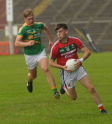 Oisin McLaughlin in action for Mayo U20&rsquo;s<br /> Pic Conor McKeown