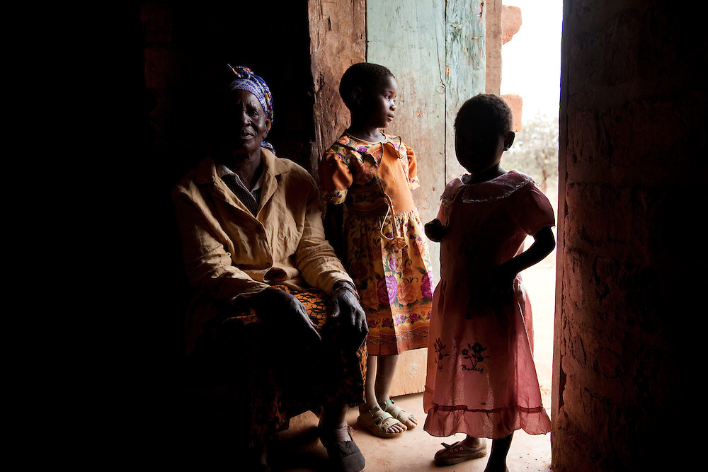 Juliana , grandmother who lives alone with two of her grandchildren. Hambale village, Chipembele ward, Zambia.