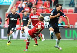 George Friend of Middlesbrough blocks a shot from Andreas Weimann of Bristol City - Mandatory by-line: Nizaam Jones/JMP- 18/08/2018 - FOOTBALL - Ashton Gate Stadium - Bristol, England - Bristol City v Middlesbrough - Sky Bet Championship