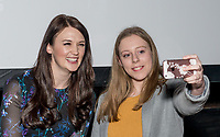 """Midlands Today presenter Rebecca Wood poses for a selfie with a fan at the brand new BBC Daytime drama Shakespeare & Hathaway – Private Investigators, is due to hit TV screens late February, 150 lucky people got the chance to view a private screening of the first episode.<br /> On Friday 9 February, The Other Place in Stratford-upon-Avon, an actual location featured in the drama, the venue to held the screening and, a special question and answer session hosted by Midlands Today presenter Rebecca Wood. She was joined by Jo Joyner, Mark Benton, Patrick Walshe McBride and the show's producer Ella Kelly.<br /> The ten-part drama from BBC Studios, created by Paul Matthew Thompson and Jude Tindall, will see Frank Hathaway (Benton), a hardboiled private investigator, and his rookie sidekick Luella Shakespeare (Joyner), form the unlikeliest of partnerships as they investigate the secrets of rural Warwickshire's residents.<br /> Beneath the picturesque charm lies a hotbed of mystery and intrigue: extramarital affairs, celebrity stalkers, missing police informants, care home saboteurs, rural rednecks and murderous magicians. They disagree on almost everything, yet somehow, together, they make a surprisingly effective team – although they would never admit it.<br /> Will Trotter, head of BBC Daytime Drama at the BBC Drama Village, comments, """"For years we have been producing quality drama at the BBC Drama Village, and Shakespeare & Hathaway is no different. It's the perfect programme to indulge in, and like many of the programmes that we make in Birmingham, we've been out and about in the county to film in some of the best locations the Midlands has to offer. <br /> """"We're looking forward to seeing the audience reactions to the first episode, it's got a whodunit storyline with a brilliant introduction to the main characters, but leaves you with some questions which makes the audience want to come back for more!"""" <br /> Notes to editors<br /> For more information on the series y"""