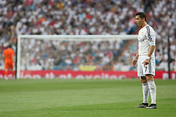 13.05.2015, Estadio Santiago Bernabeu, Madrid, ESP, UEFA CL, Real Madrid vs Juventus Turin, Halbfinale, Rückspiel, im Bild Real Madrid´s Cristiano Ronaldo // during the UEFA Champions League semi finals 2nd Leg match between Real Madrid CF and Juventus FC at the Estadio Santiago Bernabeu in Madrid, Spain on 2015/05/13. EXPA Pictures © 2015, PhotoCredit: EXPA/ Alterphotos/ Victor Blanco<br /> <br /> *****ATTENTION - OUT of ESP, SUI*****