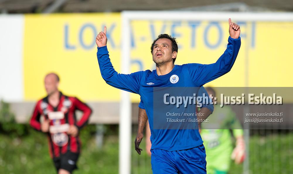 Alberto Ramirez Torres juhlii 0-1-maalia. PK-35 - OPS. Ykkönen. Vantaa 20.5.2013. Photo: Jussi Eskola