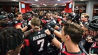 OTTAWA, ON - JUN 21: Inside the RedBlacks locker room prior to the CFL match between the Ottawa RedBlacks and the Saskatchewan Roughriders at TD Place Stadium in Ottawa, ON. Canada on June 21, 2018.<br />