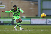 Forest Green Rovers Reece Brown(10) shoots at goal during the EFL Sky Bet League 2 match between Forest Green Rovers and Cambridge United at the New Lawn, Forest Green, United Kingdom on 20 January 2018. Photo by Shane Healey.