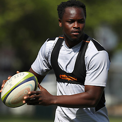 Lubabalo Tera Mtembu during The Cell C Sharks High CNS Rugby / Skills / Field Conditioning KP2, session at Growthpoint Kings Park in Durban, South Africa. December 9th December 2016 (Photo by Steve Haag)<br /> <br /> images for social media must have consent from Steve Haag
