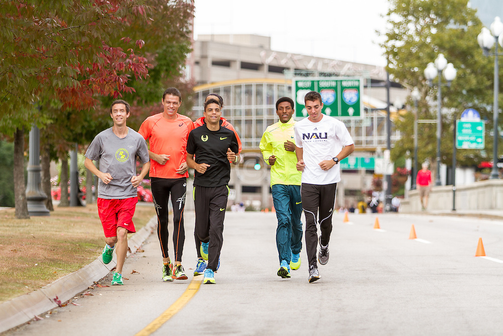 CVS Health Downtown 5k, USA 5k road championship, elite men warm up, McDougal, Batty, Centrowitz, Estrada, Macheso, ?