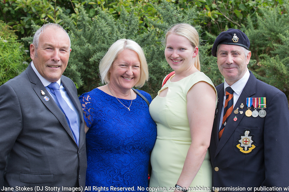 Peter Pearce, Jane Pearce, Kirsty Townsend & Steve Townsend.<br /> <br /> 74th Anniversary of the Dieppe Raid (19 August 1942) Memorial Service held at Newhaven Fort and the Canadian War Memorial. Attended by Veterans, dignitaries and guests. Organised by Canadian Veterans Association (Brighton Branch) and Newhaven Council.