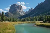 Squaretop Mountain and Green River Bridger Wilderness, Wind River Range Wyoming