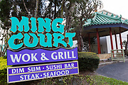 Ming Court popular tourist restaurant on International Drive in Orlando, Florida.