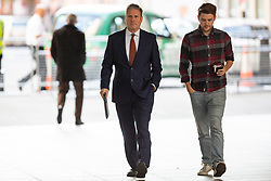 © Licensed to London News Pictures. 01/09/2019. London, UK. Shadow Secretary of State for Exiting the European Union Sir Keir Starmer (l) arrives at the BBC. Later he will appear on the Andrew Marr Show. Photo credit: George Cracknell Wright/LNP