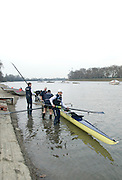 London, Great Britain.  Oxford University, OUBC, [Blue Boat], boating, prior to Pre Boat race fixture over the Championship Course  River Thames. Single race piece - Putney to Chiswick Pier.  on Saturday  12/03/2011 [Mandatory Credit; Karon Phillips/Intersport Images]..Crew: .Bow Moritz HAFNER, Ben MYERS, Dave WHIFFIN,  Ben ELLISON,  Karl HUDSPITH,  Alec DENT,  George WHITTAKER, Stroke Constantine LOULOUDIS, Cox Sam WINTER-LEVY. ..