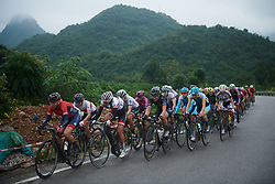 The chase group on the first climb at GREE Tour of Guangxi Women's World Tour 2018, a 145.8 km road race in Guilin, China on October 21, 2018. Photo by Sean Robinson/velofocus.com