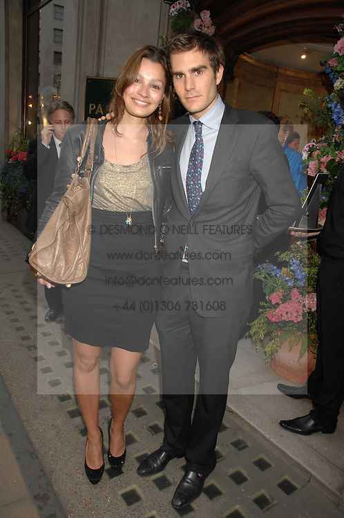OSCAR HUMPHRIES and SARA PHILIPPIDIS at a reception to celebrate the launch of Prince Dimitri of Yugoslavia's one-of-a-kind jeweleery collection held at Partridge Fine Art, 144-146 New Bond Street, London on 11th June 2008.<br /><br />NON EXCLUSIVE - WORLD RIGHTS