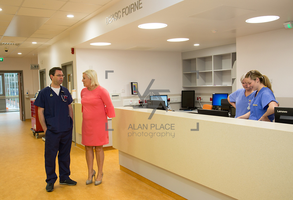 29.05. 2017.                                             <br /> IRELAND&rsquo;S largest and most advanced Emergency Department has opened this Monday at University Hospital Limerick.<br /> <br /> Pictured at the new Emergency Department were, Dr. Gareth Quin, Consultant in Emergency Medicine and UHL CEO Colette Cowan.<br /> <br /> <br /> A &euro;24 million project (development and equipment costs), the ED spans 3,850 square metres of floor space, over three times the size of the old department. In 2016, UHL had the busiest ED in the country, with over 64,000 attendances. Picture: Alan Place