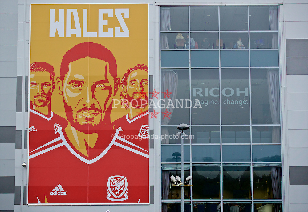 CARDIFF, WALES - Monday, September 5, 2016: An image of Wales' captain Ashley Williams before the 2018 FIFA World Cup Qualifying Group D match against Moldova at the Cardiff City Stadium. (Pic by David Rawcliffe/Propaganda)