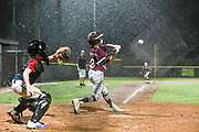 Pearland East All Stars Brett Smajstrla (28) swings at the final game winning walk off homerun late in the game against Sagemont All Stars.  Pearland won 12-2. (Photo/Olyn D. Taylor)