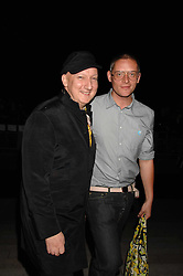 Left to right, STEPHEN JONES and GILES DEACON at the Moet Mirage Evening at Holland Park Opera House, London W8 on 16th September 2007.<br />