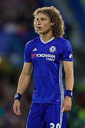 LONDON, ENGLAND - Friday, September 16, 2016: Chelsea's David Luiz, with a bloody nose, in action against Liverpool during the FA Premier League match at Stamford Bridge. (Pic by David Rawcliffe/Propaganda)