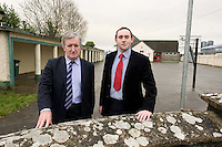 Ulick Burke Local TD  and Principal Gerard Murray  at  the school in Kilimor  .  Photo:Andrew Downes