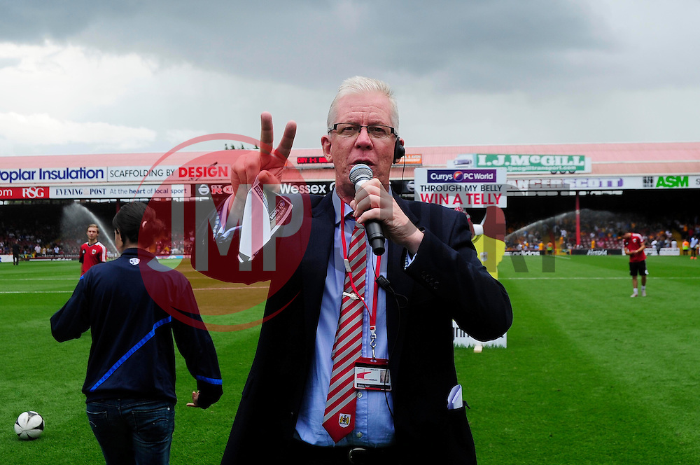 Bristol City announcer, David Lloyd  - Photo mandatory by-line: Dougie Allward/JMP - Tel: Mobile: 07966 386802 03/08/2013 - SPORT - FOOTBALL - Ashton Gate - Bristol -  Bristol City V Bradford City - Sky Bet League One