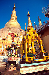 BURMA RANGOON MAR95 - General view on the Shwedagon Pagoda, Rangoon's symbol. The Shwedagon Pagoda is plated with real gold and has a large rubin stone cemented on its top. .. jre/Photo by Jiri Rezac. . © Jiri Rezac 1995. . Contact: +44 (0) 7050 110 417. Mobile: +44 (0) 7801 337 683. Office: +44 (0) 20 8968 9635. . Email: jiri@jirirezac.com. Web: www.jirirezac.com