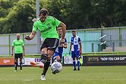 Forest Green Rovers Christian Doidge(9) takes a penalty and scores a goal 1-0 during the Pre-Season Friendly match between Forest Green Rovers and Bristol Rovers at the New Lawn, Forest Green, United Kingdom on 21 July 2018. Picture by Shane Healey.
