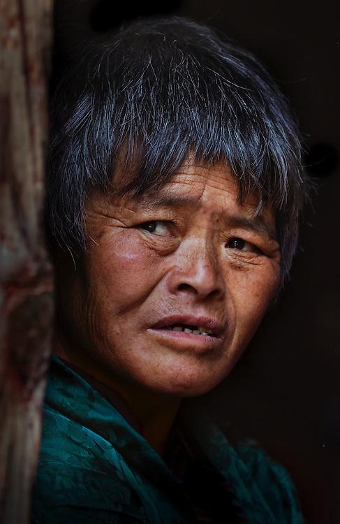 A woman from Bumthang, Bhutan.