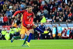 Wayne Rooney of England scores his sides second goal - Mandatory by-line: Matt McNulty/JMP - 27/05/2016 - FOOTBALL - Stadium of Light - Sunderland, United Kingdom - England v Australia - International Friendly