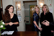 ROSAMUND HUTCHINSON; RACHEL JOHNSON; LINDSAY FULCHER, Rachel's Johnson's 'A Diary of the Lady'book launch at The Lady's offices. Covent Garden. London. 30 September 2010. -DO NOT ARCHIVE-© Copyright Photograph by Dafydd Jones. 248 Clapham Rd. London SW9 0PZ. Tel 0207 820 0771. www.dafjones.com.