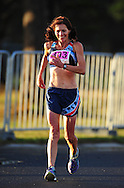 CAPE TOWN, SOUTH AFRICA - OCTOBER 10: Sandra Steenkamp of AGN in the women 30km during the South African Race Walking Championship at Youngsfield Military Base on October 10, 2015 in Cape Town, South Africa. (Photo by Roger Sedres/ImageSA)