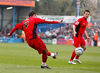 Photo: Richard Lane/Richard Lane Photography. <br /> Colchester United v Coventry City. Coca Cola Championship. 19/04/2008. City's Daniel Fox scores a goal.
