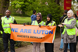 Luton, UK. 5th May, 2012. Supporters of We Are Luton attend the We Are Luton/Stop The EDL march, organised by We Are Luton and Unite Against Fascism in protest against a march by around 3,000 supporters of the far-right English Defence League.