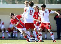Fotball<br /> Turnering G17 / U17 Team Tournament<br /> Polen v Norge 0:1<br /> Poland v Norway 0:1<br /> 05.02.2013<br /> Foto: Morten Olsen, Digitalsport<br /> <br /> Elias Skogvoll (9) - Norge / Tromsø<br /> Iver Fossum (8) - Norge / Strømsgodset<br /> Michal Suchanek (9) - Polen