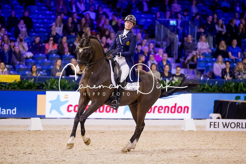 Roos Laurence, BEL, Fil Rouge<br /> FEI World Cup Dressage - Grand Prix<br /> Jumping Amsterdam 2017<br /> &copy; Hippo Foto - Leanjo de Koster<br /> 27/01/17
