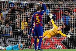 November 5, 2019, Barcelona, Catalonia, Spain: November 5, 2019 - Barcelona, Spain - Uefa Champions League Stage Group, FC Barcelona v Slavia Praga: Marc Andre Ter Stegen of FC Barcelona stops the ball  (Credit Image: © Eric Alonso/ZUMA Wire)
