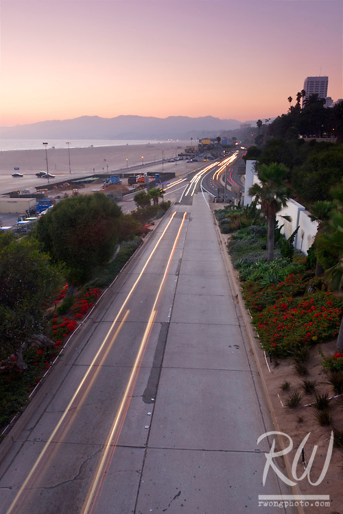 Pacific Coast Highway and Ocean Avenue, Santa Monica, California