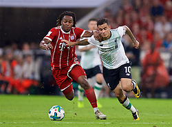 MUNICH, GERMANY - Tuesday, August 1, 2017: Liverpool's Philippe Coutinho Correia and Bayern Munich's Renato Sanches during the Audi Cup 2017 match between FC Bayern Munich and Liverpool FC at the Allianz Arena. (Pic by David Rawcliffe/Propaganda)