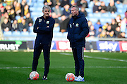 Paul Lambert talking with Alan Irving  during the The FA Cup Fourth Round match between Oxford United and Blackburn Rovers at the Kassam Stadium, Oxford, England on 30 January 2016. Photo by Dennis Goodwin.
