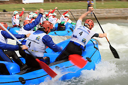 HungaroRaft of Hungary (4) vs Kanyon Raft Team of Hungaryat Euro Cup 2009 R6 Rafting in TT & H2H and Slovenian National Championship 2009, on April 4, 2009, in Tacen, Ljubljana, Slovenia. (Photo by Vid Ponikvar / Sportida)