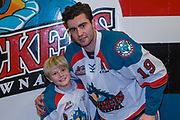 KELOWNA, CANADA - FEBRUARY 02:  Pepsi Player of the Game with Dillon Dube #19 of the Kelowna Rockets at the Kelowna Rockets game on February 02, 2018 at Prospera Place in Kelowna, British Columbia, Canada.  (Photo By Cindy Rogers/Nyasa Photography,  *** Local Caption ***