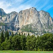 Ribbon Fall in Yosemite Valley. Yosemite National Park. California, USA.