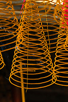 Incense coils, Thien Hau Temple, Chinatown, Ho Chi Minh City (Saigon), Vietnam.