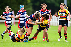 Sasha Acheson of Bristol Ladies is tackled by Laura Kapo of Richmond ladies - Mandatory by-line: Craig Thomas/JMP - 17/09/2017 - Rugby - Cleve Rugby Ground  - Bristol, England - Bristol Ladies  v Richmond Ladies - Women's Premier 15s