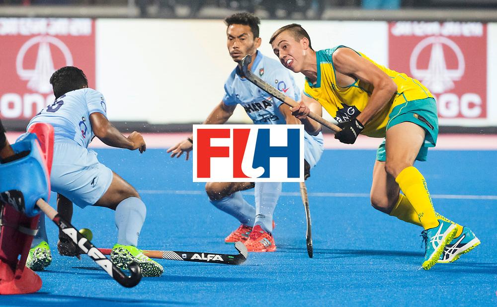 BHUBANESWAR - The Odisha Men's Hockey World League Final . Match ID 02. Australia v India. Lachlan Sharp (Aus) .WORLDSPORTPICS COPYRIGHT  KOEN SUYK