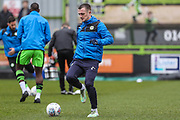 Forest Green Rovers Lee Collins(5) warming up during the EFL Sky Bet League 2 match between Forest Green Rovers and Mansfield Town at the New Lawn, Forest Green, United Kingdom on 24 March 2018. Picture by Shane Healey.